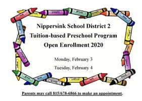 NSD2 Preschool Program Open Enrollment