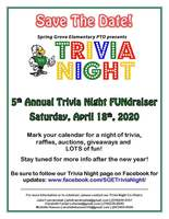 Save The Date! SGE PTO Trivia Night